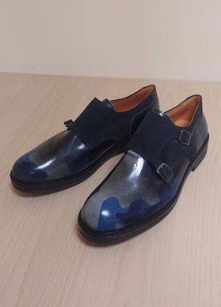Стильные мужские туфли классика кожа италия