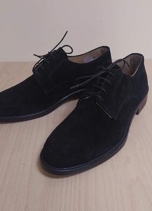 Мужские туфли натуральная замша классика италия