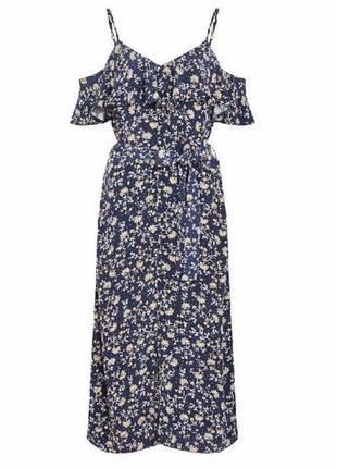 Очаровательное платье с открытыми плечами цветочный принт f&f