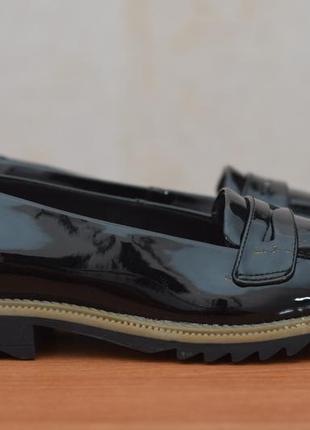 Черные женские лакированные туфли, лоферы clarks, 38.5 размер. оригинал