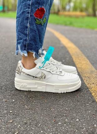 Nike pixel snakeskin обувь кроссовки найк женские пиксель форсы аир форс