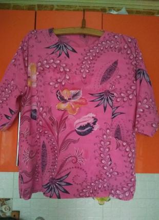 Натуральная блузка 100% лен