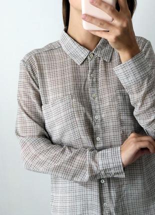 Шифоновая рубашка в гусиную лапку zebra