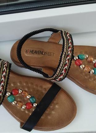 Ортопедические  кожаные босоножки сандалии