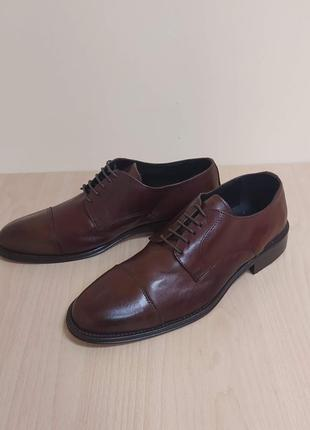 Классические мужские туфли кожа италия