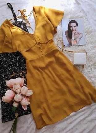 🖤 горчичное платье от river island