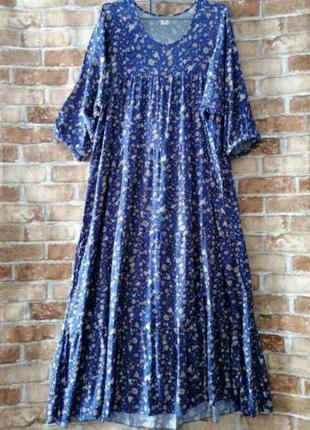 Длинное платье оборками в стиле бохо