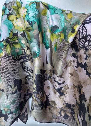 Шикарный фирменный 100%шелковый платок armine