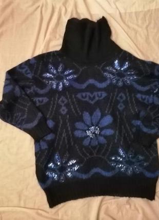 Фирменный свитер мохер винтаж