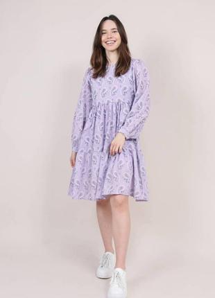 Платье свободное из хлопка