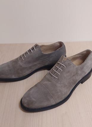 Мужские замшевые туфли италия классика