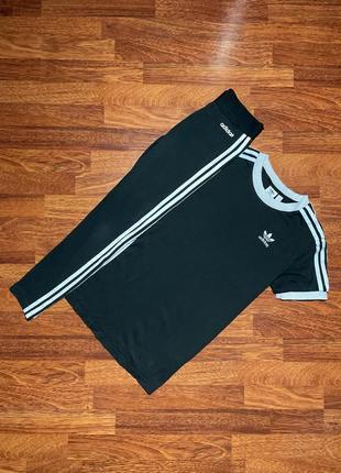 Спортивный костюм лосины футболка майка adidas