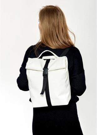 Рюкзак ролл унісекс білий