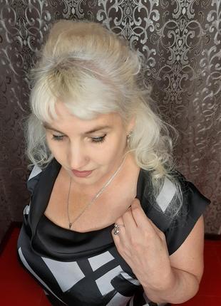 Блузка туника с воротником-хомутиком