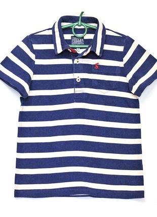 Брендовое трикотажное поло футболка joules в морскую полоску