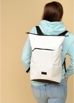 Рюкзак ролл  унісекс білий5 фото