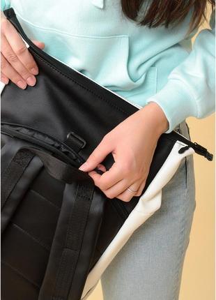 Рюкзак ролл  унісекс білий3 фото