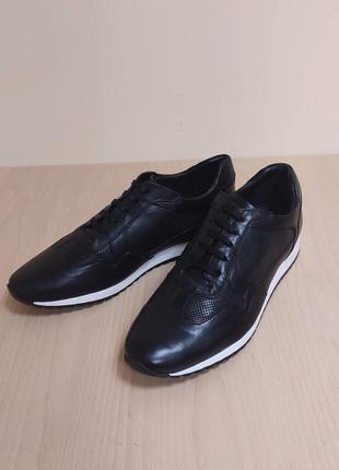 Классические туфли кроссовки мужские кожа италия