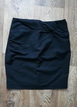 Черная классическая юбка h&m супер цена распродажа женская школьная офисная впережи узел бпнт сзади молния