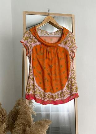 Шикарная блуза в принт из вискозы италия