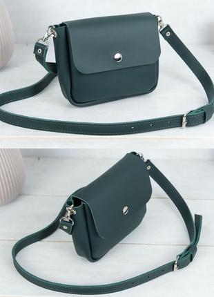 Женская маленькая сумочка из натуральной кожи гранд зеленая