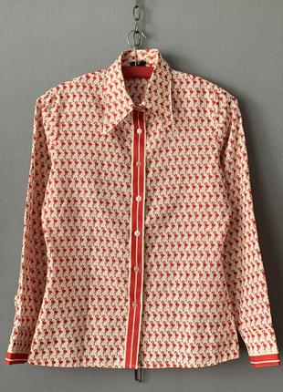 Lady astor рубашка принт фламинго 🦩 винтаж эксклюзив.