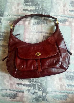 Кожанная брендовая сумка giulia