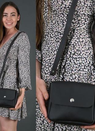 Женская маленькая сумочка из натуральной кожи гранд шоколадная