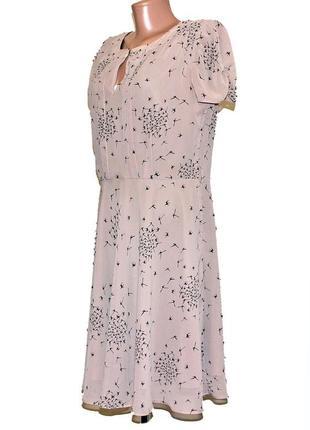 Нежное шифоновое платье на подкладке dorothy perkins размер 14-12