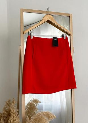 Шикарная красная юбка мини с карманами  m&s