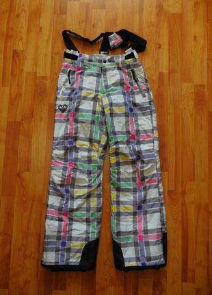 Купить женские лыжные горнолыжные штаны брюки в клетку на рост 158 164 см