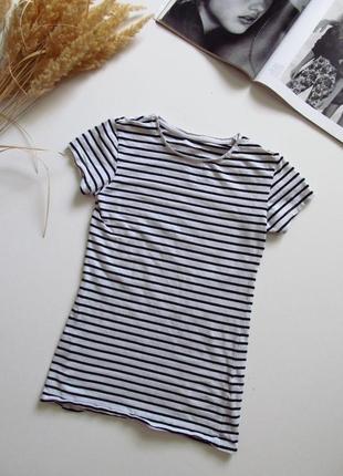 Полосатая футболка женская/ состояние отличное 👍