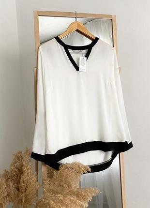 Белая блузка с контрастными вставками george