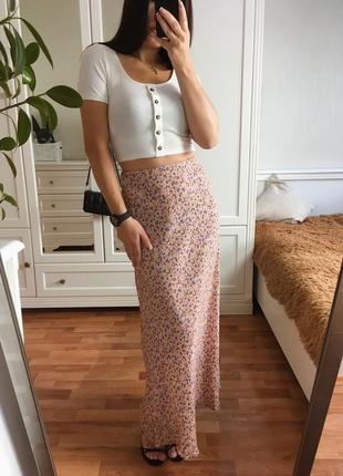 Трендовая юбка в цветочек4 фото