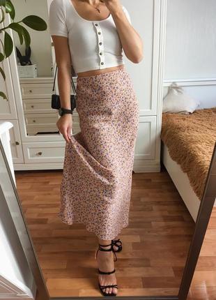 Трендовая юбка в цветочек6 фото