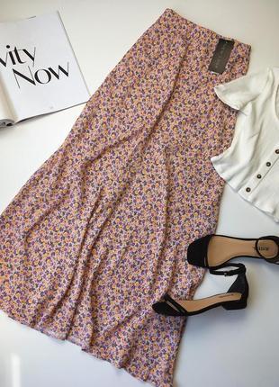 Трендовая юбка в цветочек5 фото