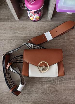 Стильная сумка/бананка с двумя ремнями