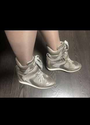 Готовь сани летом))сникерсы ботиночки натуральная кожа замш