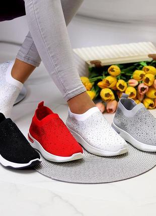 Текстильные кроссовки с камнями