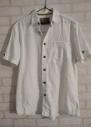 Рубашка мужская, котоновая.