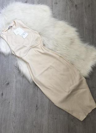 Трендовое платье с акцентным швом под грудью3 фото