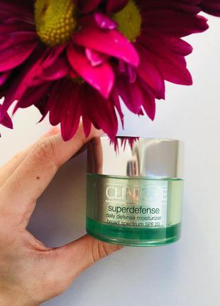Clinique superdefense daily moisturizer увлажняющий крем для жирной и комбинированной кожи