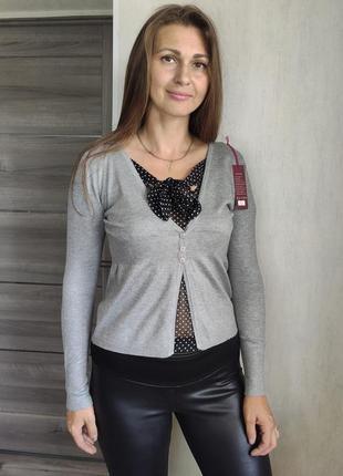 Женский   джемпер  с блузкой обманкой (0761)