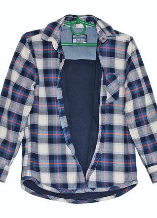 Брендовая рубашка next на трикотажной подкладке на мальчика