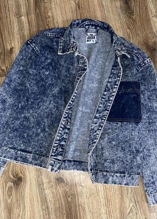 Джинсовый пиджак оверсайз варёнка s/m