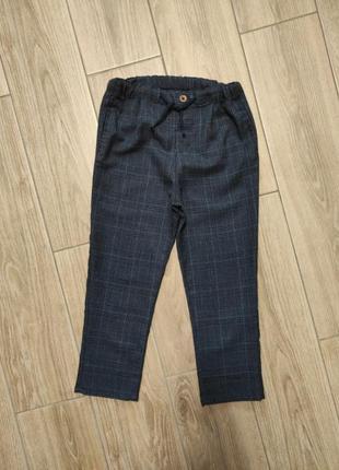 Тонкие красивые брюки в клетку штаны джогеры