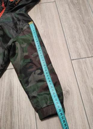 Курточка ветровка на флисе куртка камуфляж милитари5 фото