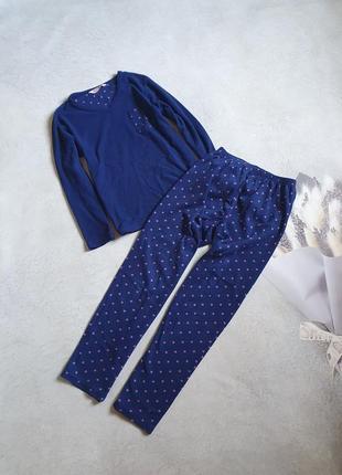 Флисовая пижама в горошек р.m-l