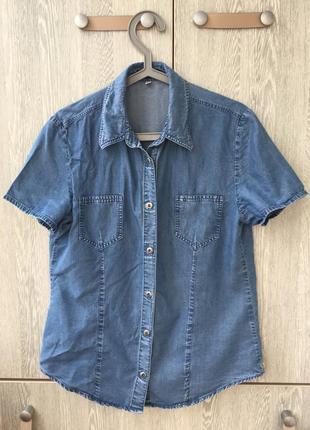 Джинсовая рубашка s-м