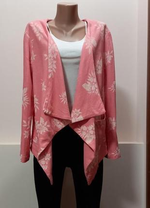 Стильный льняной пиджак кофта накидка